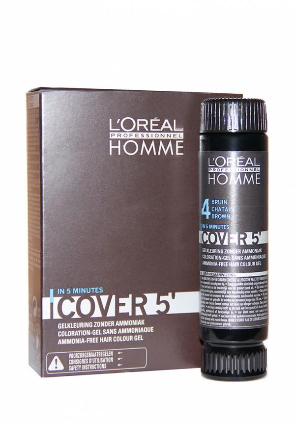 Тонирующий гель Кавер 5 №4 LOreal Professional Homme - Уход за волосами и тонирование седины для мужчин 150 мл