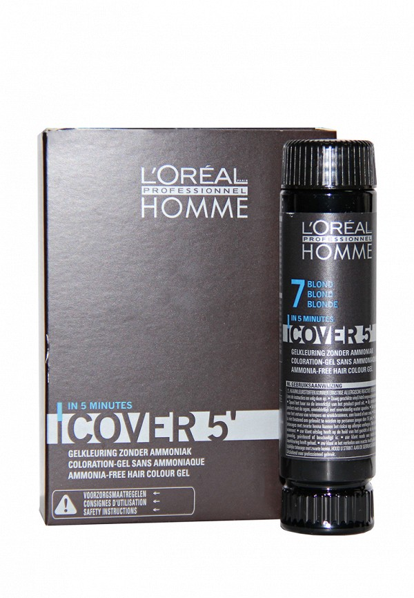 Тонирующий гель Кавер 5 №7 LOreal Professional Homme - Уход за волосами и тонирование седины для мужчин