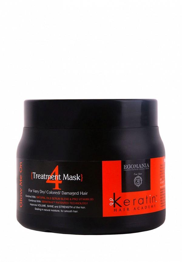 Маска для поврежденных волос Egomania Prof Keratin Hair Academy Во всем блеске - Для очень сухих, окрашенных и поврежденных волос 500 мл