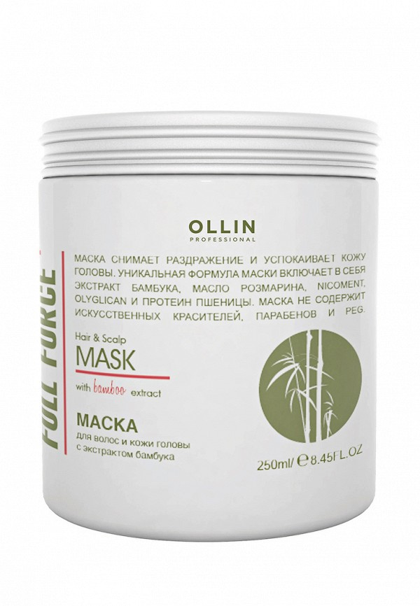 Маска для волос Ollin Full Force Hair  Scalp Purfying Mask
