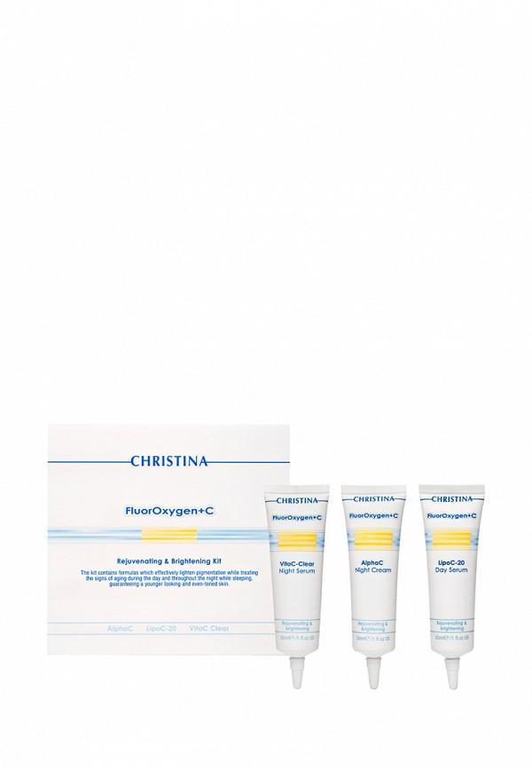 Набор для ухода за кожей лица для домашнего использования Christina FluorOxygen+C - Осветление и омоложение кожи 3х30 мл
