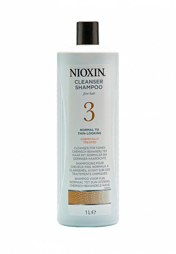 Очищающий шампунь Система 3 Nioxin для тонких химически обработанных волос склонных к выпадению 1000 мл