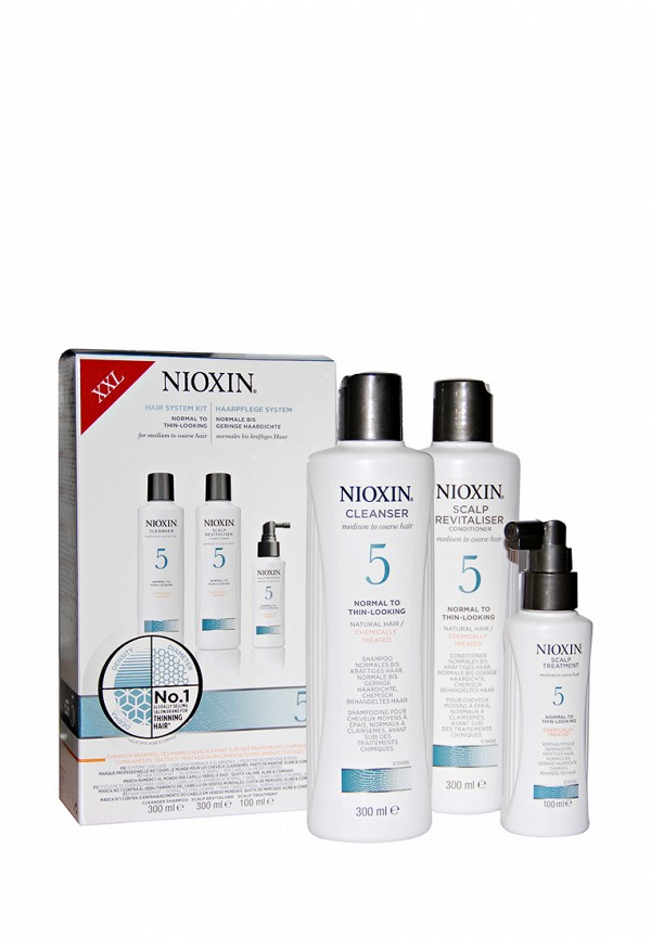 Набор Система 5 Nioxin для жестких, химически обработанных, натуральных волос склонных к выпадению 700 мл
