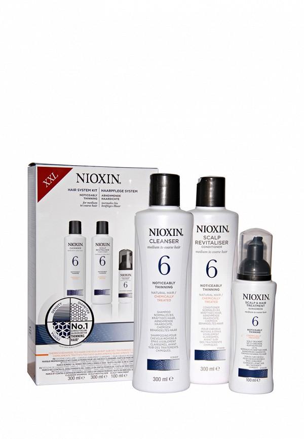 Набор Система 6 Nioxin для редеющих жестких, химически обработанных или натуральных волос 700 мл