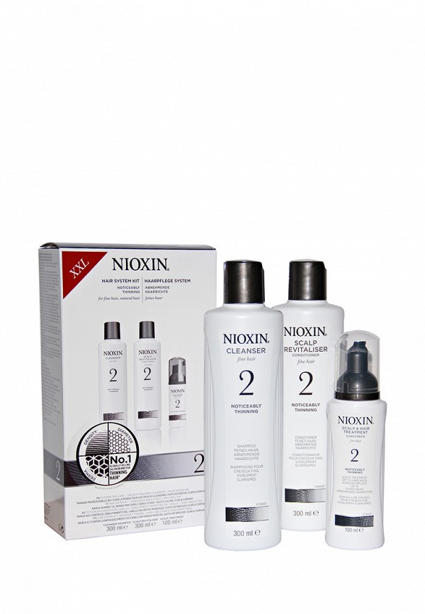Набор Система 2 Nioxin для заметно редеющих тонких натуральных волос 700 мл