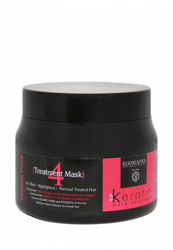 Маска для поврежденных волос Egomania Prof Keratin Hair Academy - Для тонких, мелированных, после химической завивки волос 500 мл