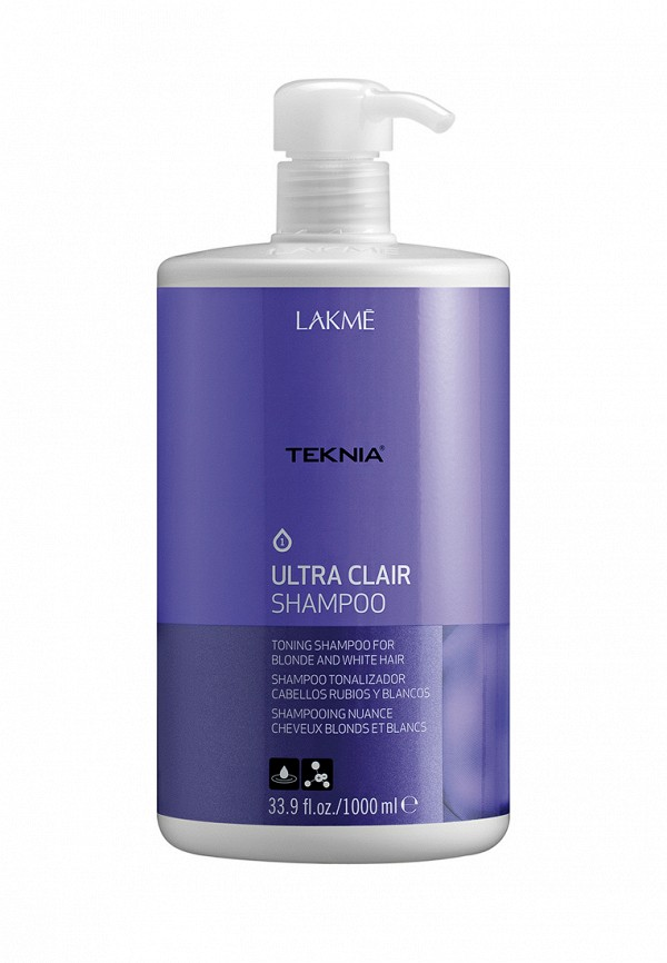 Шампунь тонирующий Lakme Teknia Ultra Clair Shampoo 1000 мл