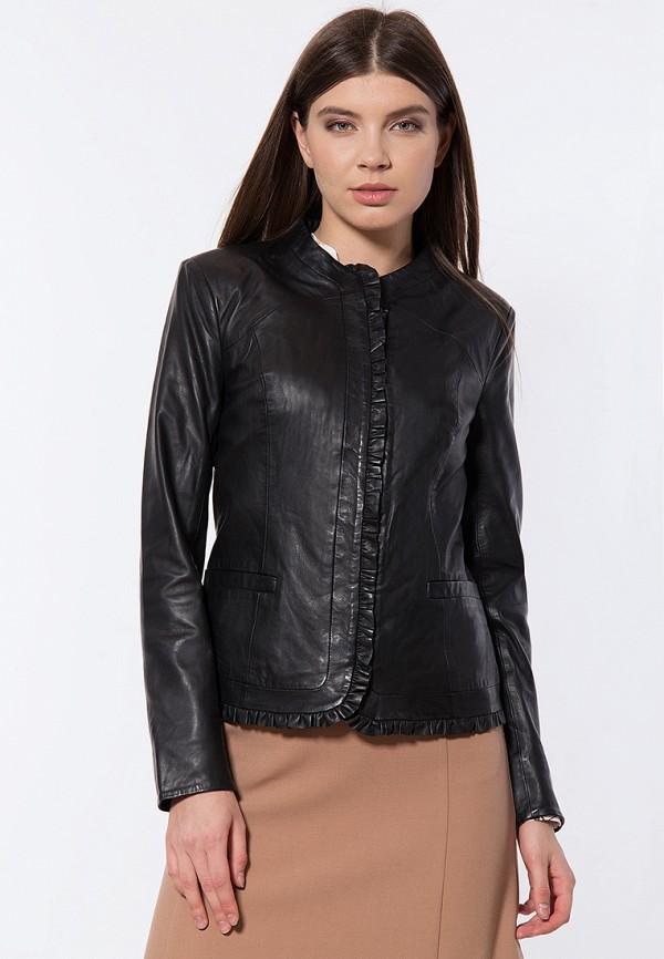 Куртка кожаная Finn Flare цвет черный