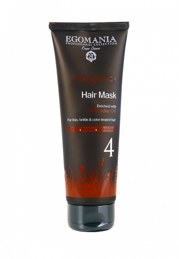 Маска для окрашенных волос Egomania Prof Hairganic+ - Для тонких, ломких волос 250 мл
