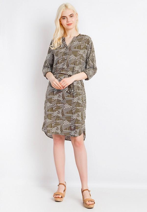Платье Finn Flare цвет хаки  Фото 2