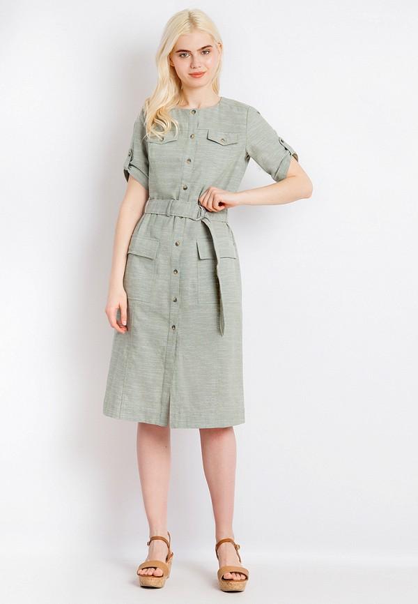 Платье Finn Flare цвет зеленый  Фото 2