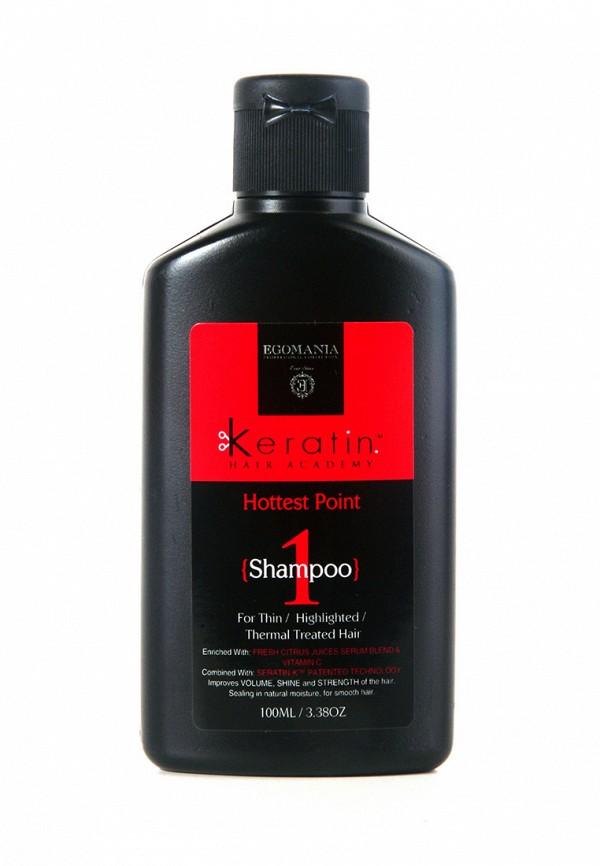 Шампунь для поврежденных волос Egomania Prof Keratin Hair Academy На пике красоты - Для тонких, мелированных, после химической завивки волос 100 мл