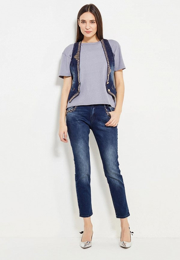 Жилет джинсовый DSHE цвет синий  Фото 2