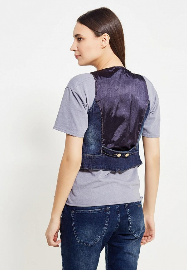 Жилет джинсовый DSHE цвет синий  Фото 3