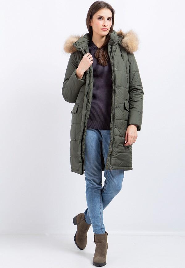 Куртка утепленная Finn Flare цвет зеленый  Фото 2