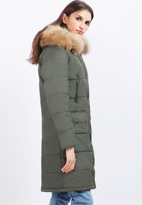 Куртка утепленная Finn Flare цвет зеленый  Фото 4