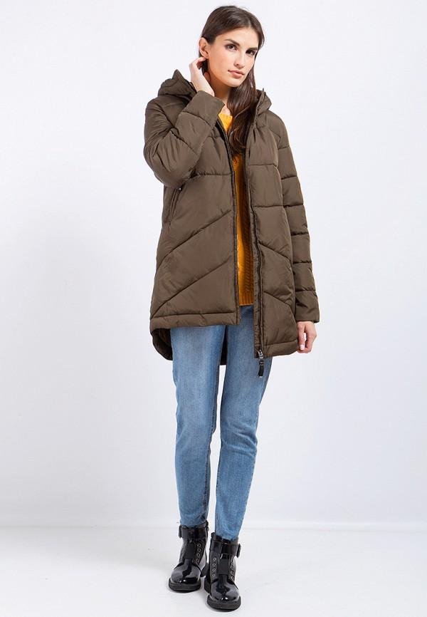 Куртка утепленная Finn Flare цвет коричневый  Фото 2