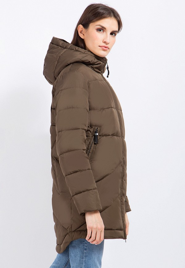 Куртка утепленная Finn Flare цвет коричневый  Фото 3