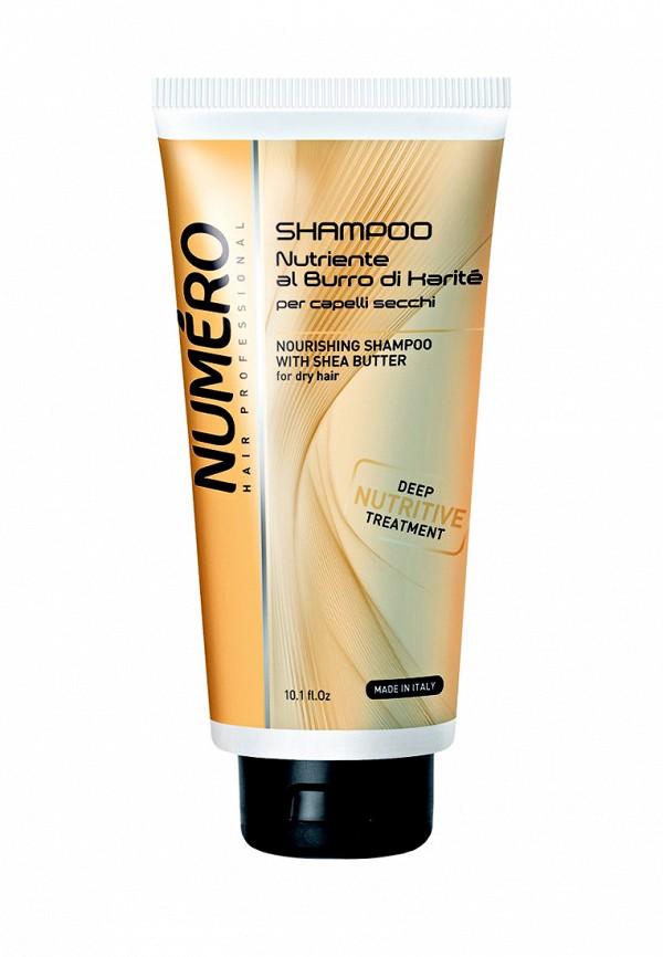 Шампунь для сухих волос 300 мл Brelil Professional Numero Shea Butter - Линия для сухих волос с маслом карите