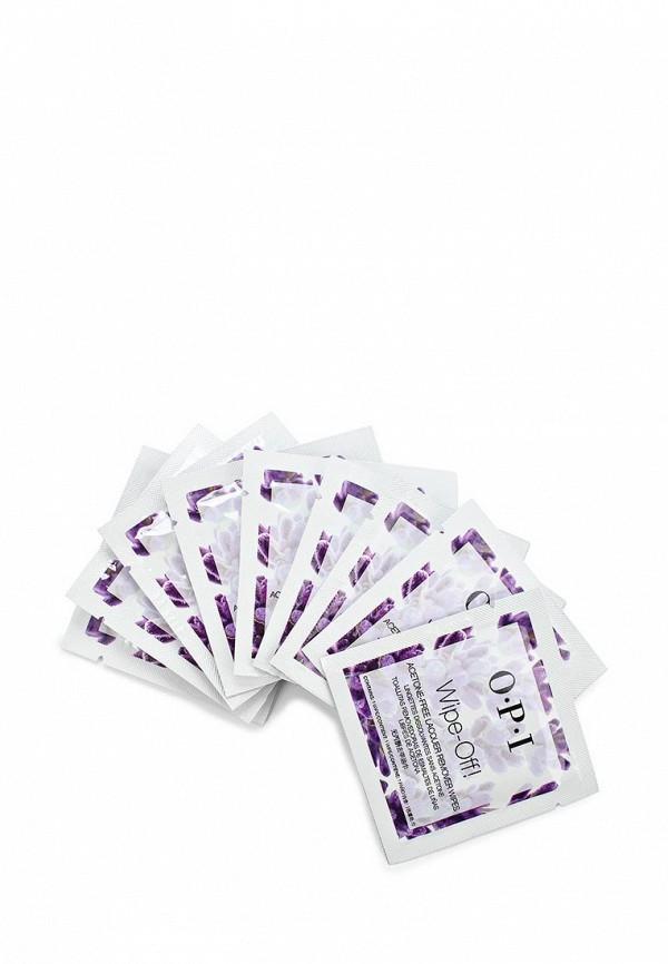 Средство для снятия лака O.P.I Салфетки без ацетона Wipe-Off! Acetone-Free Lacquer Remover Wipes, 10 шт