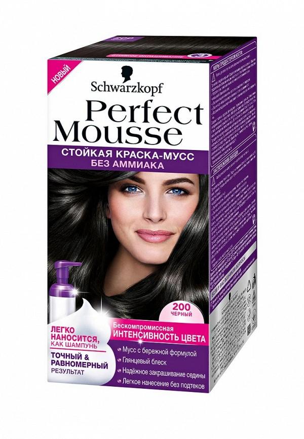 Краска для волос Perfect Mousse 200 Черный, 35 мл