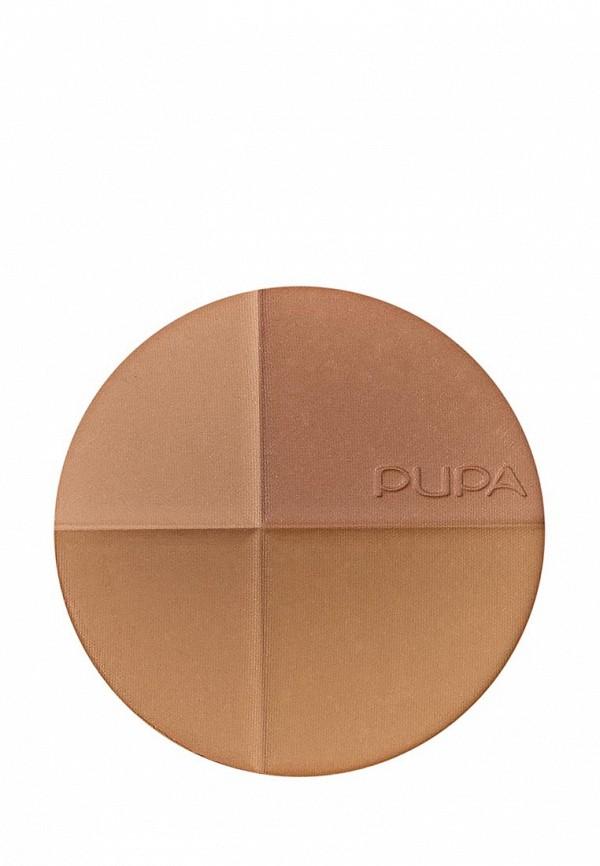 Пудра Pupa Компактная бронзирующая тон 01, розовая гармония с SPF 15