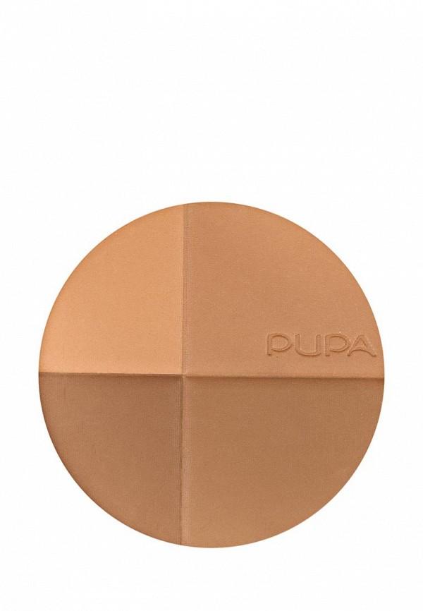 Пудра Pupa Компактная бронзирующая тон 02, золотая гармония с SPF 15