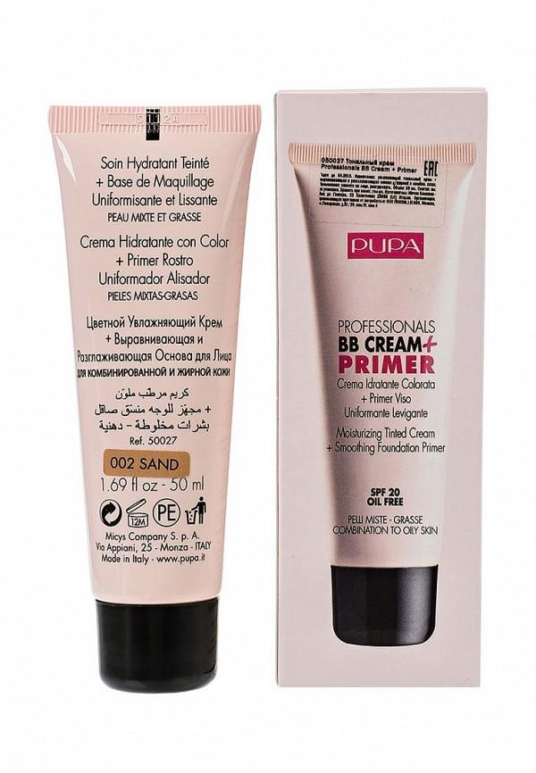 Тональный крем Pupa тон 02 BB Cream для жирной кожи средний тон