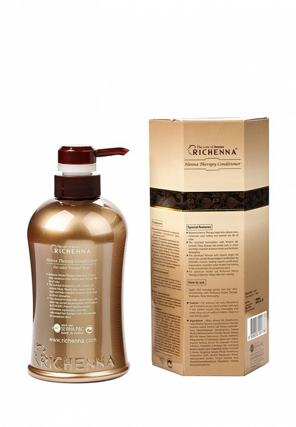 Кондиционер Richenna для окрашенных волос с экстрактом хны, 500 мл