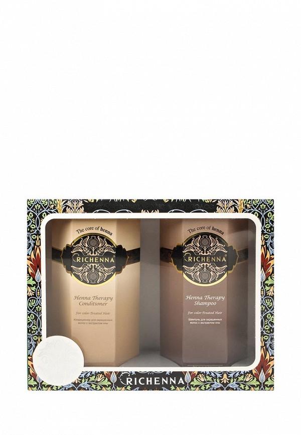 Набор Richenna Henna Therapy для окрашенных волос шампунь 500мл, кондиционер 500 мл