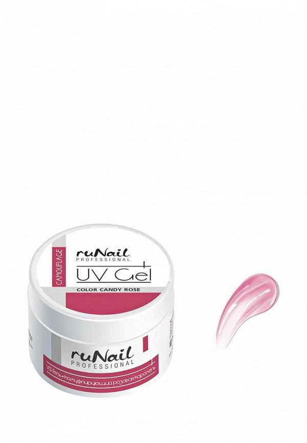 Гель-лак для ногтей Runail Professional Камуфлирующий (цвет: Розовая карамель, Candy Rose), 15 г