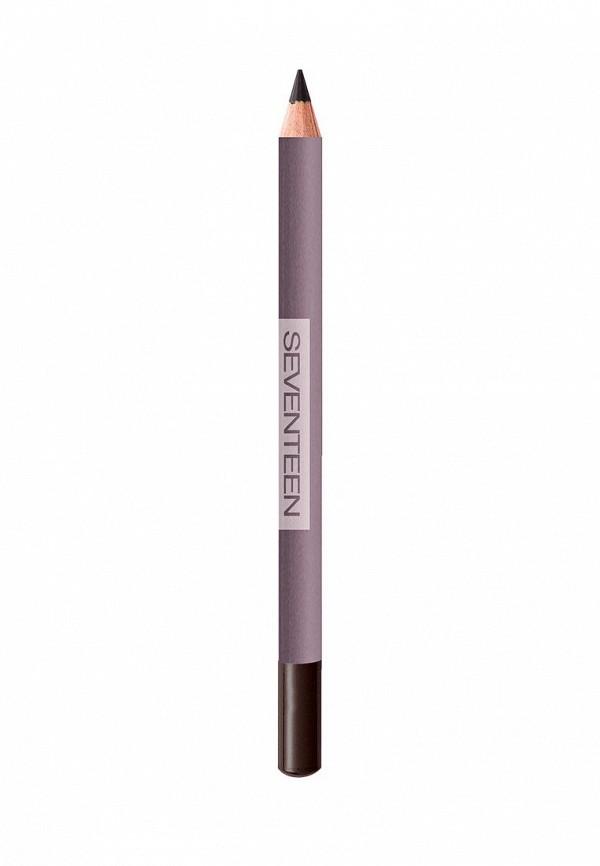Карандаш для глаз Seventeen для век устойчивый т.34  LONGSTAY EYE SHAPER тёмно-коричневый