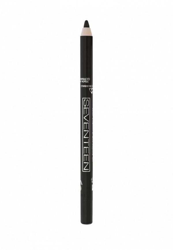 Карандаш для глаз Seventeen водостойкий т.01 Super Smooth W/P черный бархат