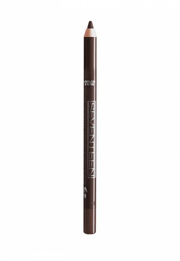 Карандаш для глаз Seventeen водостойкий т.05 Super Smooth W/P коричневый