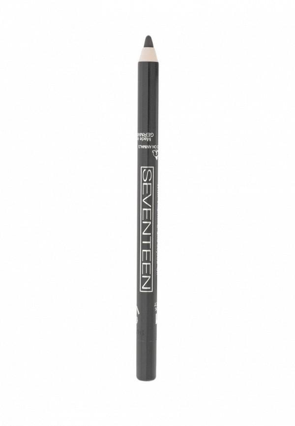 Карандаш для глаз Seventeen для век водостойкий т.10 Super Smooth W/PLongstay темно-серый