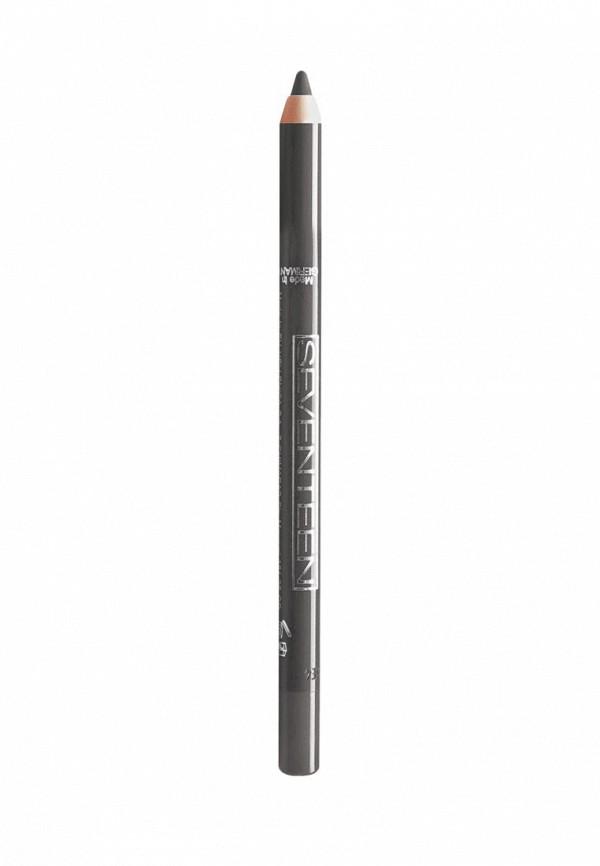 Карандаш для глаз Seventeen водостойкий т.11  Super Smooth W/PLongstay стальной