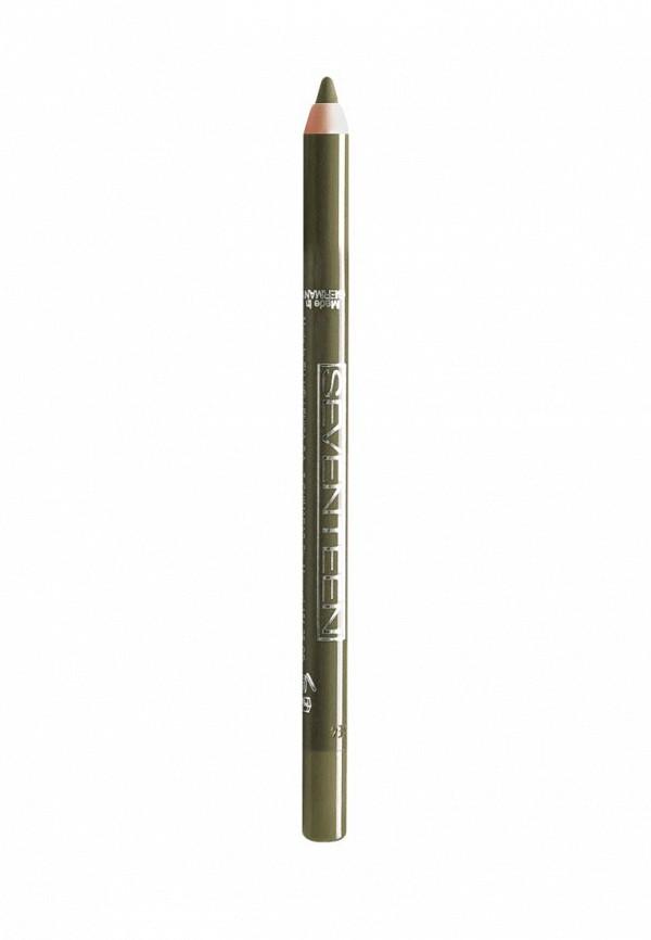 Карандаш для глаз Seventeen для век водостойкий т.13 Super Smooth W/PLongstay олива
