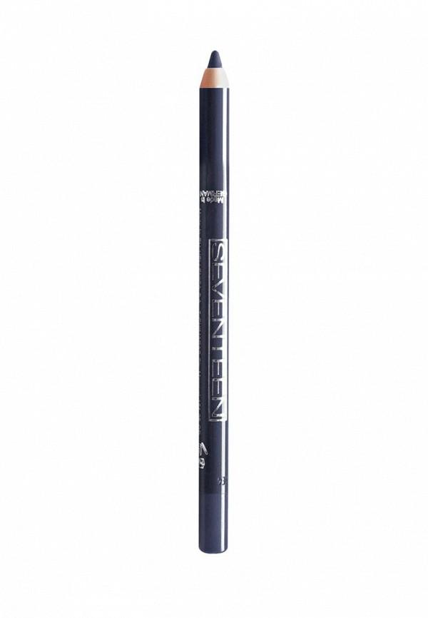 Карандаш для глаз Seventeen водостойкий т.15  Super Smooth W/P темно серо-синий