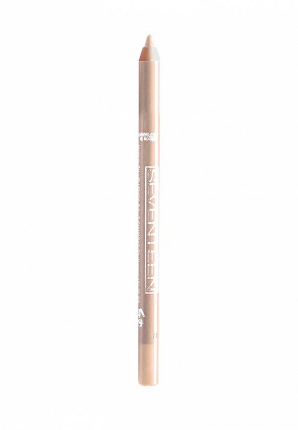 Карандаш для глаз Seventeen для век водостойкий т.50  Super Smooth W/PLongstay Матовый беж