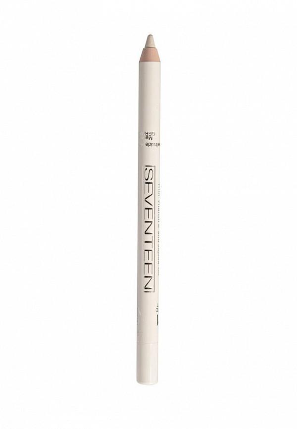 Карандаш для глаз Seventeen для век водостойкий т.51 Super Smooth W/PLongstay Матовый белый