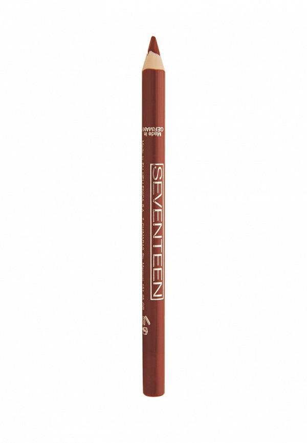 Карандаш для губ Seventeen для губ т.01 водостойкий с витамином Е Super Smooth W/P Lip Liner Натуральный бежевый