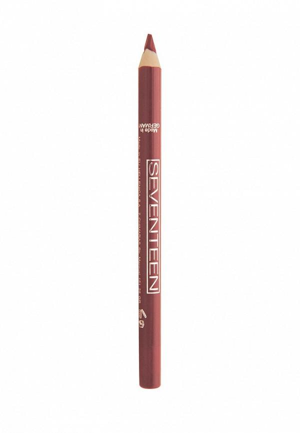 Карандаш для губ Seventeen для губ т.02 водостойкий с витамином  Е Super Smooth W/P Lip Liner Розовый