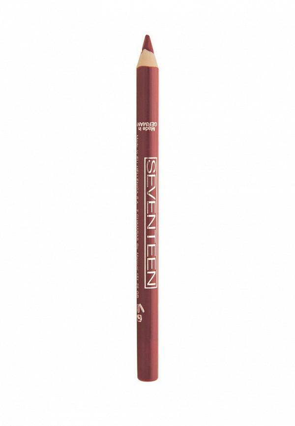 Карандаш для губ Seventeen для губ т.03 водостойкий с витамином Е Super Smooth W/P Lip Liner Натуральный