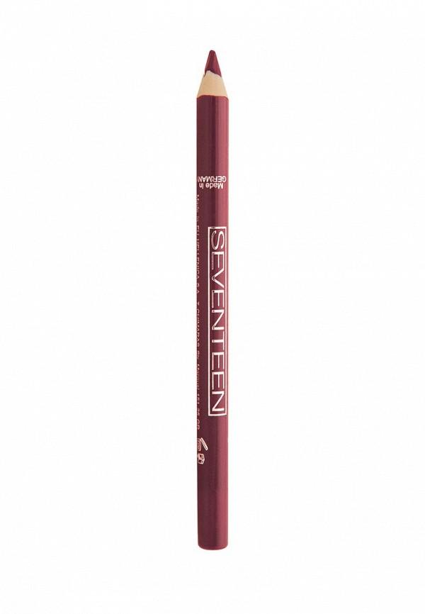 Карандаш Seventeen для губ т.08 водостойкий с витамином Е Super Smooth W/P Lip Liner Клюква
