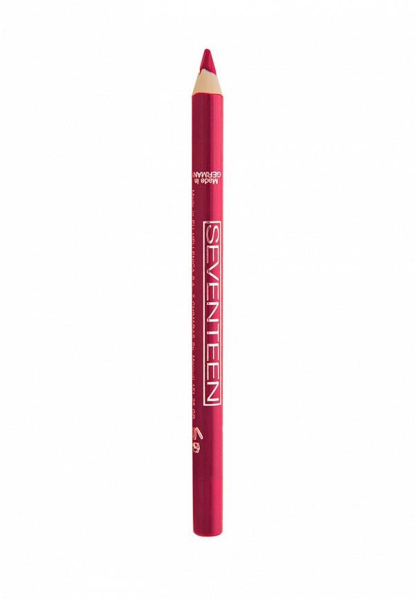 Карандаш для губ Seventeen для губ т.09 водостойкий с витамином Е Super Smooth W/P Lip Liner, Фуксия