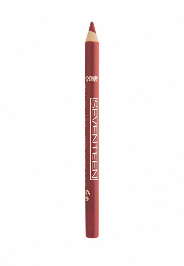 Карандаш для губ Seventeen для губ т.10 водостойкий с витамином Е Super Smooth W/P Lip Liner Томат
