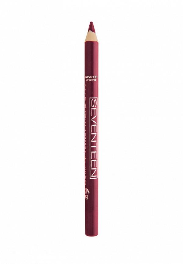 Карандаш для губ Seventeen для губ т.15 водостойкий с витамином Е Super Smooth W/P Lip Liner Кроваво красный