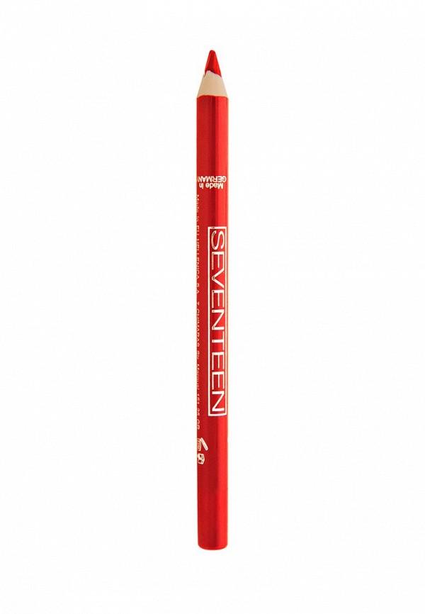 Карандаш для губ Seventeen для губ т.27 водостойкий с витамином Е Super Smooth W/P Lip Liner Красный