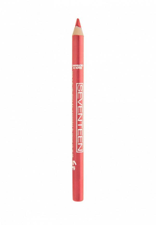 Карандаш Seventeen для губ т.28 водостойкий с витамином Е Super Smooth W/P Lip Liner  Персик