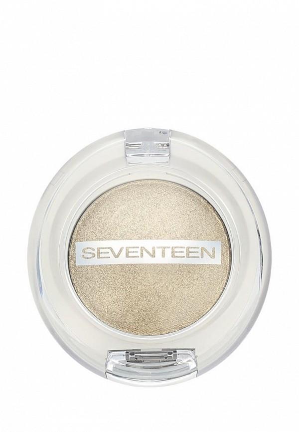 Тени для век Seventeen компактные, тон 06 Extra Sparkle Shadow золотая пыль